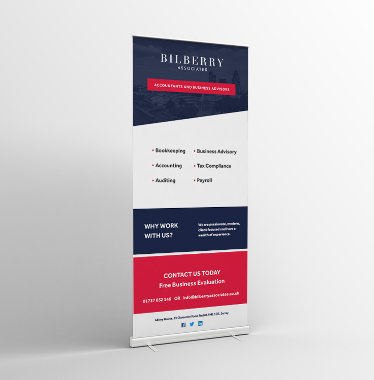 Bilberry Branding Roll Up Banner