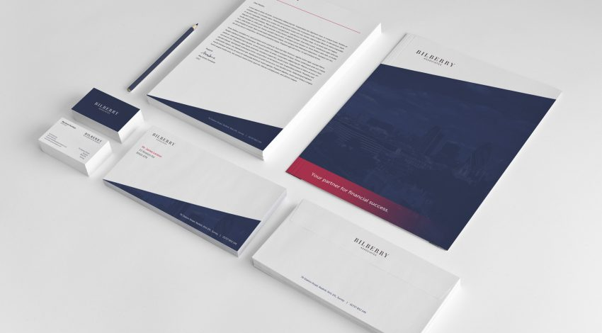 Elements of a corporate and professional branding project by Square One Digital