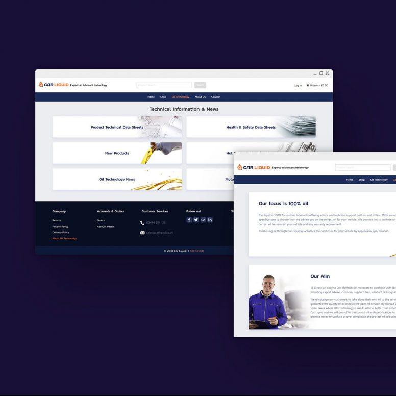 High end desktop web design mockup by Square One Digital