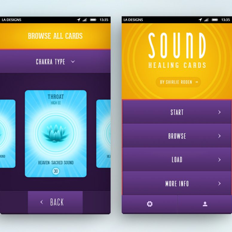 Two main screens of a mobile app design project by Square One Digital