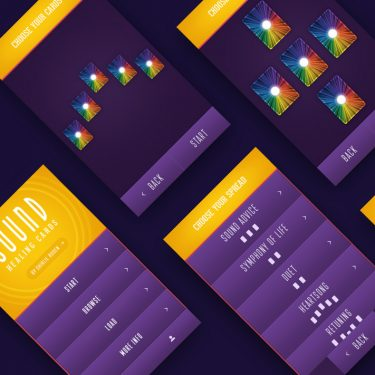 A selection of mobile app screens designed by Square One Digital